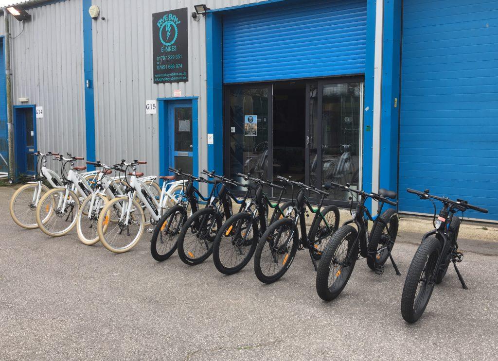 Rye Bay e-bike hire front shop