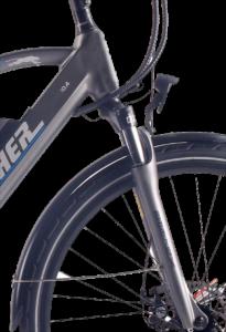 Mens Hybrid Bar detail Rye Bay e-bikes