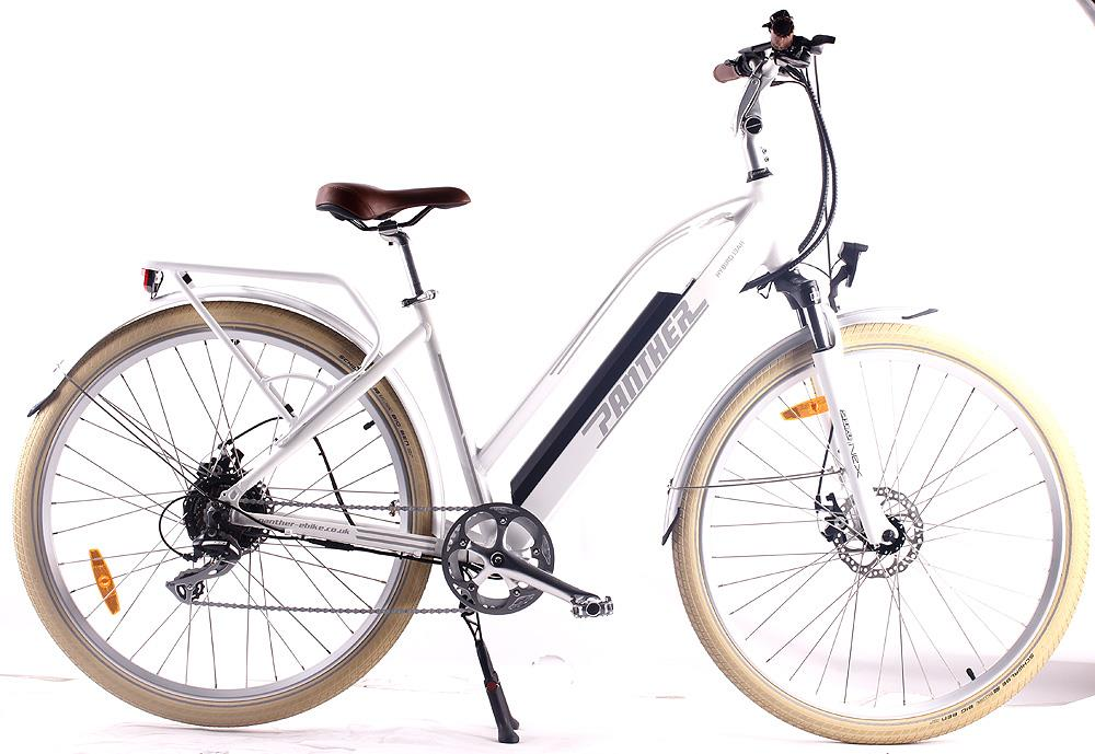 White step thru Rye Bay e-bike